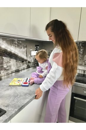 Tepláková súprava Stephanie pre mamu a dcéru 3