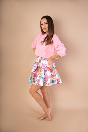Skater sukňa Flowers