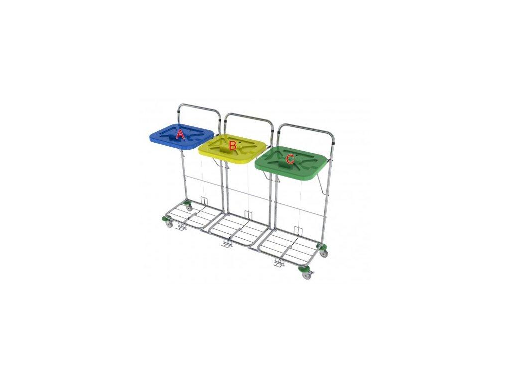 vozík na prádlo a odpad vako 120C3 ruční ovládání