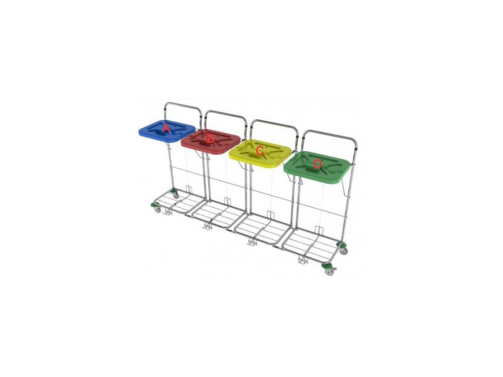 vozík na přepravu prádla a odpadu vako 120c4 nožní ovládání