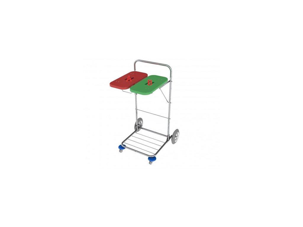 vozík na prádlo a odpad vako 120e ruční ovládání