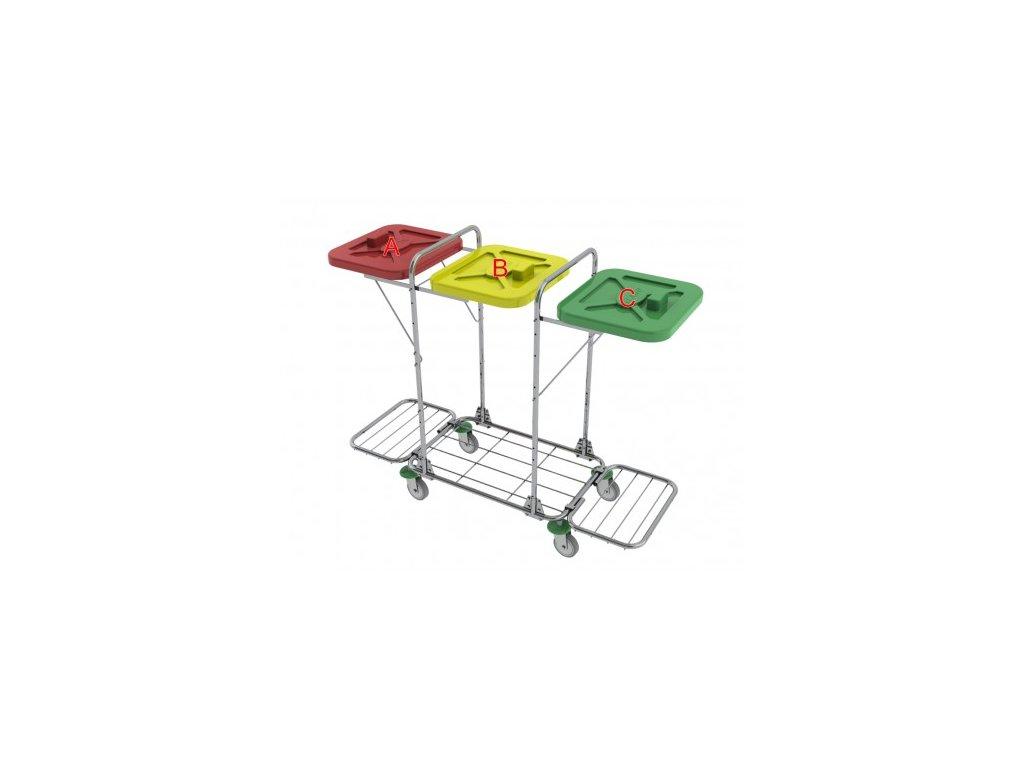 vozík na přepravu prádla a odpadu vako 120j