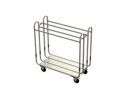hotelový vozík s hrazdou na oděvy L