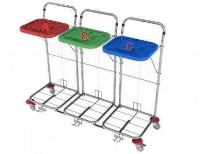 vozík na prádlo a odpad vako 80c3n nožní ovládání