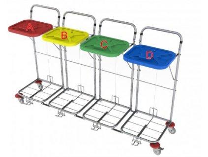vozík na prádlo a odpad vako 80c4n nožní ovládání