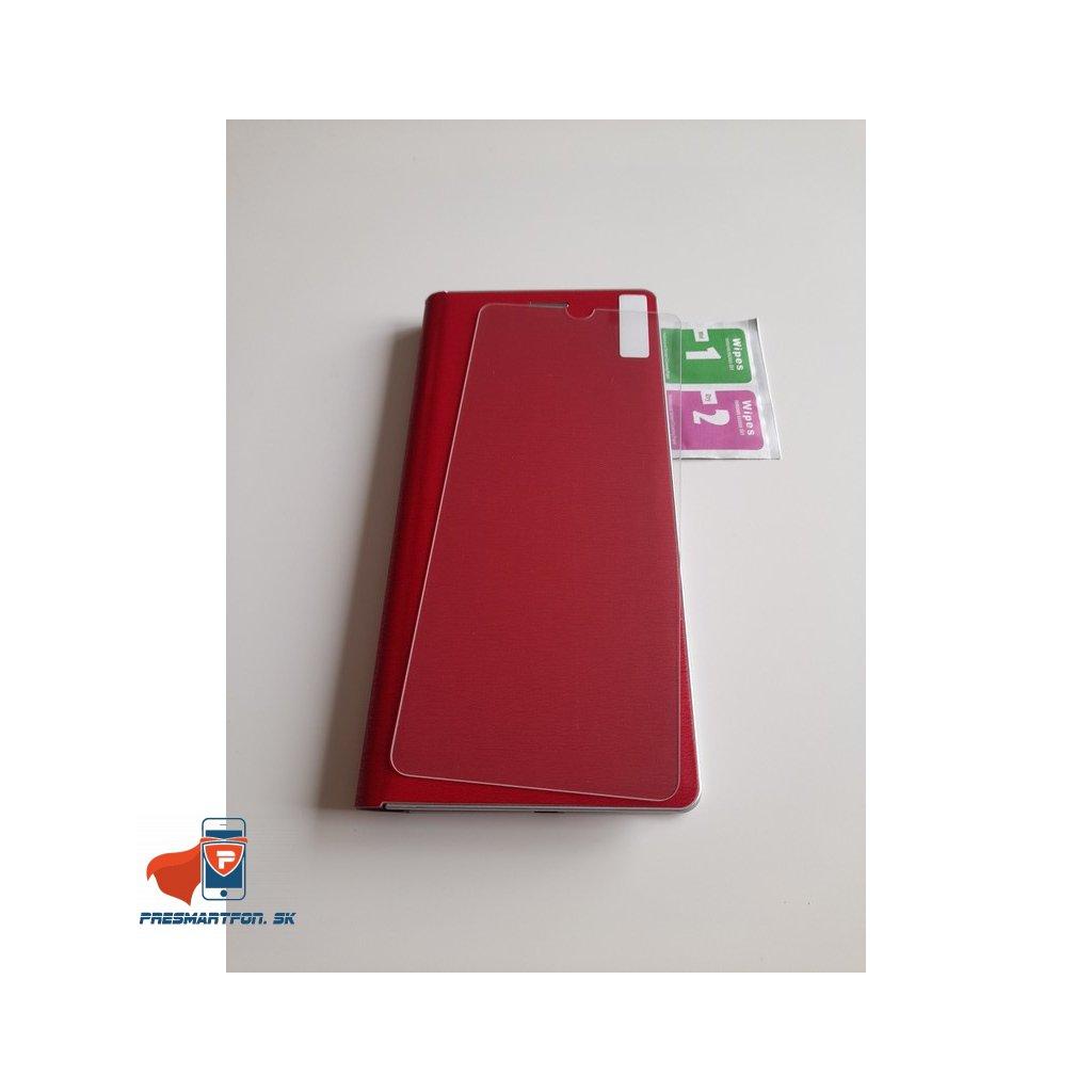 SAMSUNG GALAXY A12 púzdro LUNA BOOK, červené + ochranné sklo ZADARMO