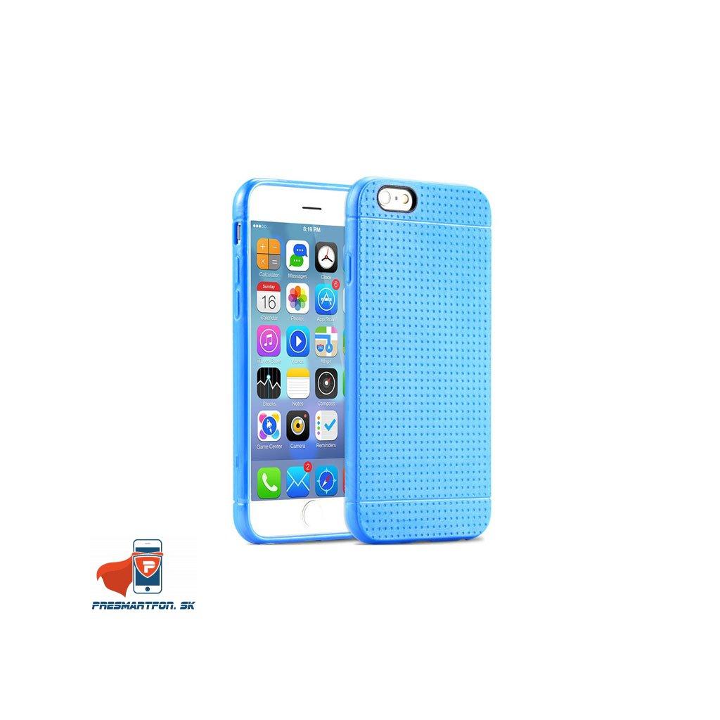 silikonovy kryt iphone 6 bodkovany modry