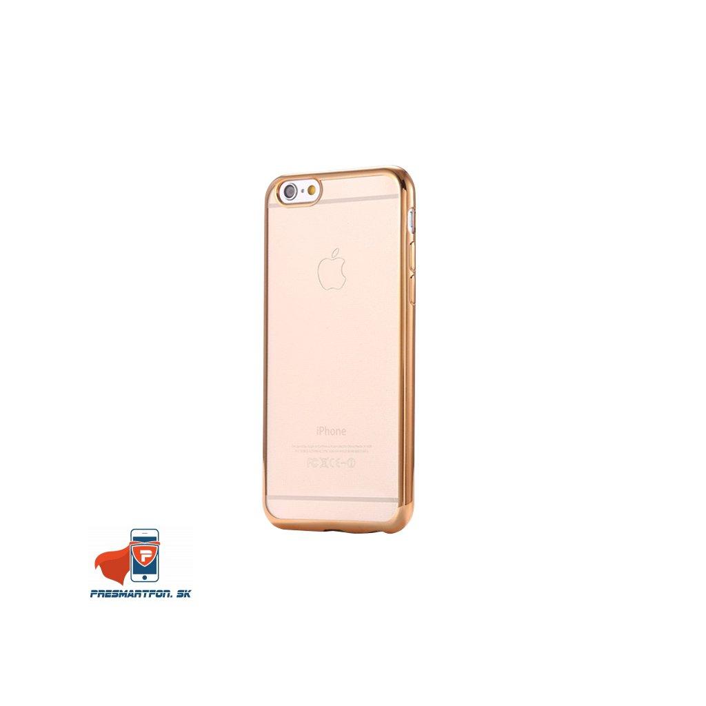 iPhone 6 6S silikonovy luxusny kryt priehladny zlaty 1