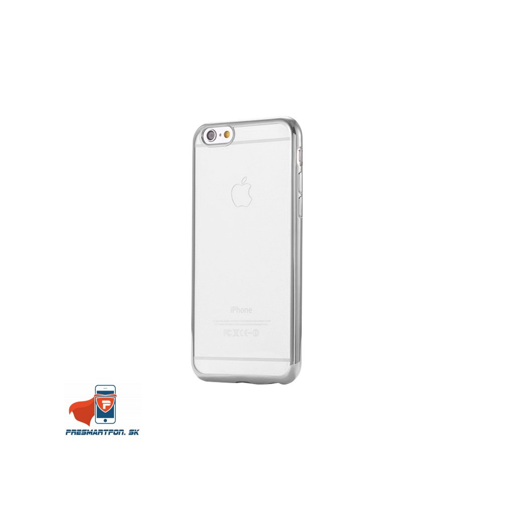 iPhone 6 6S silikonovy luxusny kryt priehladny strieborny 1