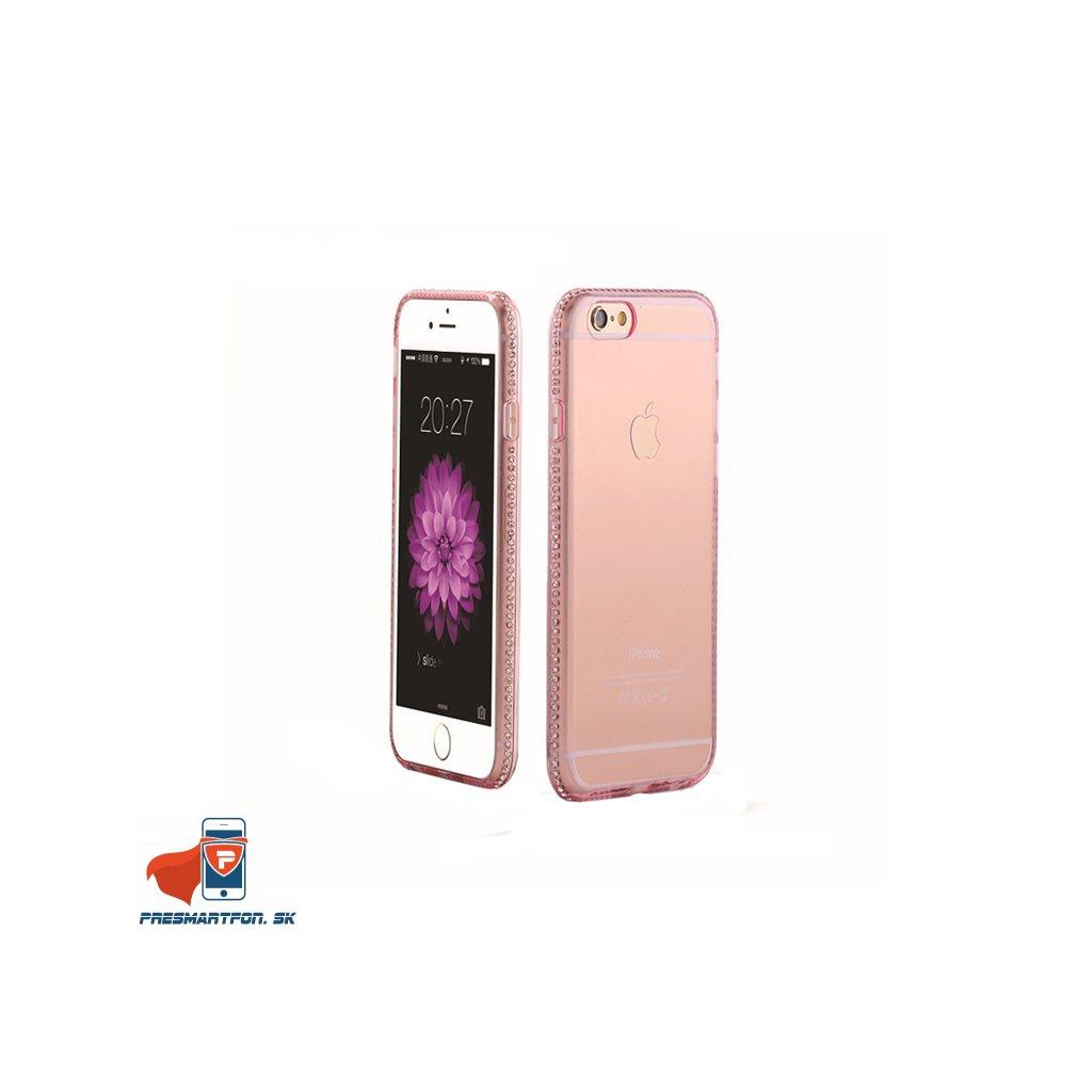 iPhone 6 priehladny silikonovy kryt ozdobny ruzovy 01