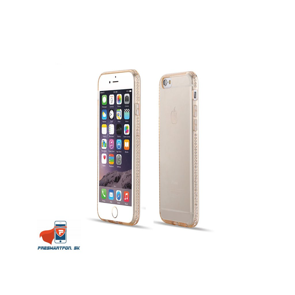 iPhone 6 priehladny silikonovy kryt ozdobny zlaty 01