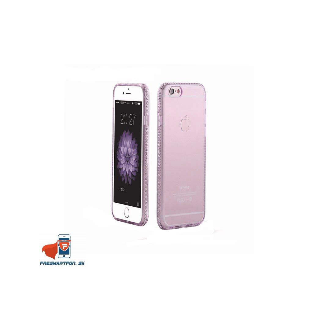 iPhone 6 priehladny silikonovy kryt ozdobny fialovy 01