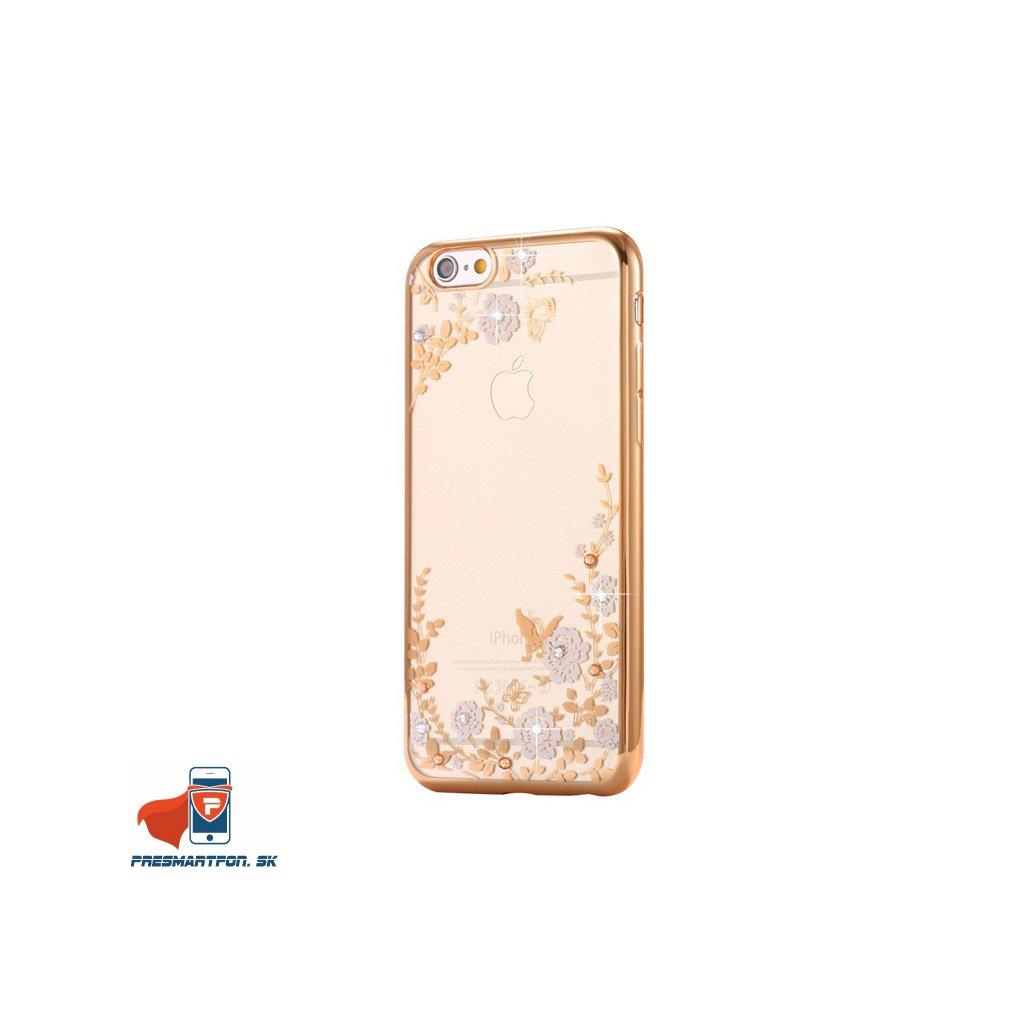 iPhone 7 silikonovy luxusny kryt zlato biely