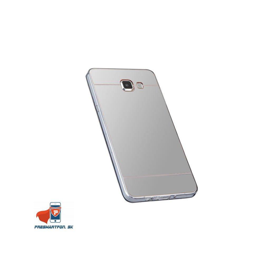 Samsung A3 2016 A3100 silikonovy zrkadlovy kryt strieborny 1