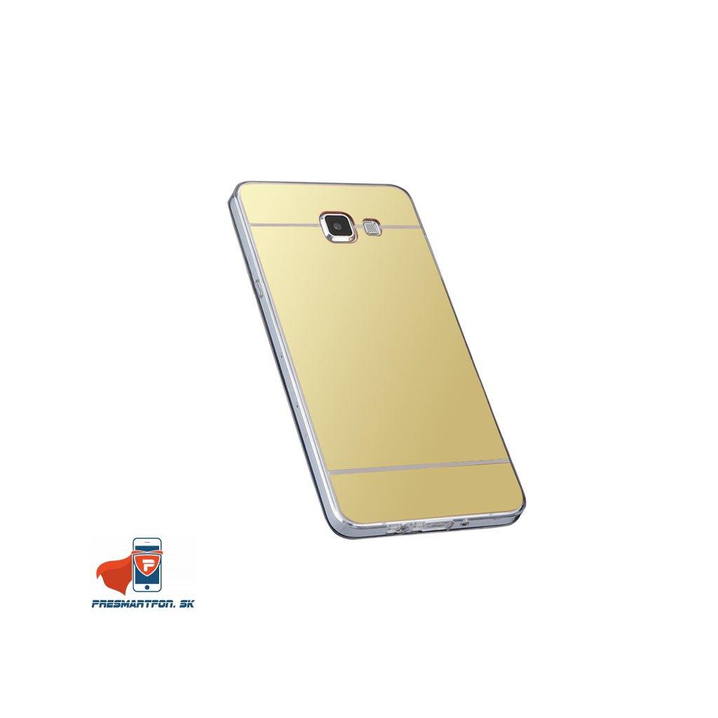 Samsung A3 2016 A3100 silikonovy zrkadlovy kryt zlaty 1