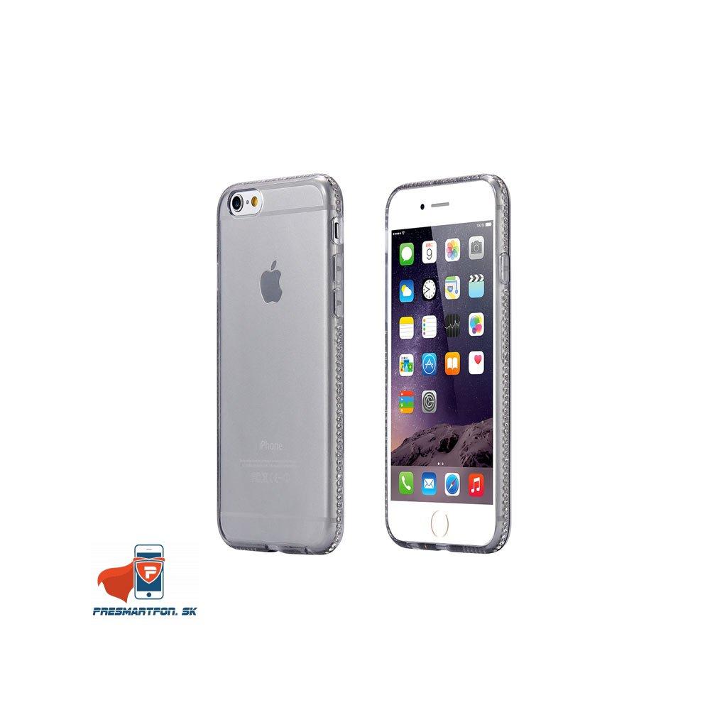 iPhone 6 priehladny silikonovy kryt ozdobny cierny 01 – kópia
