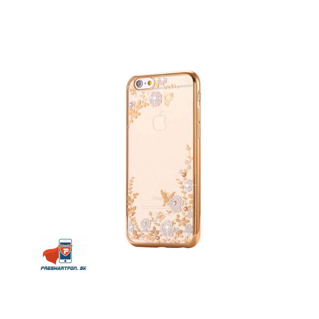 iPhone 8 Plus silikonovy luxusny kryt zlato biely