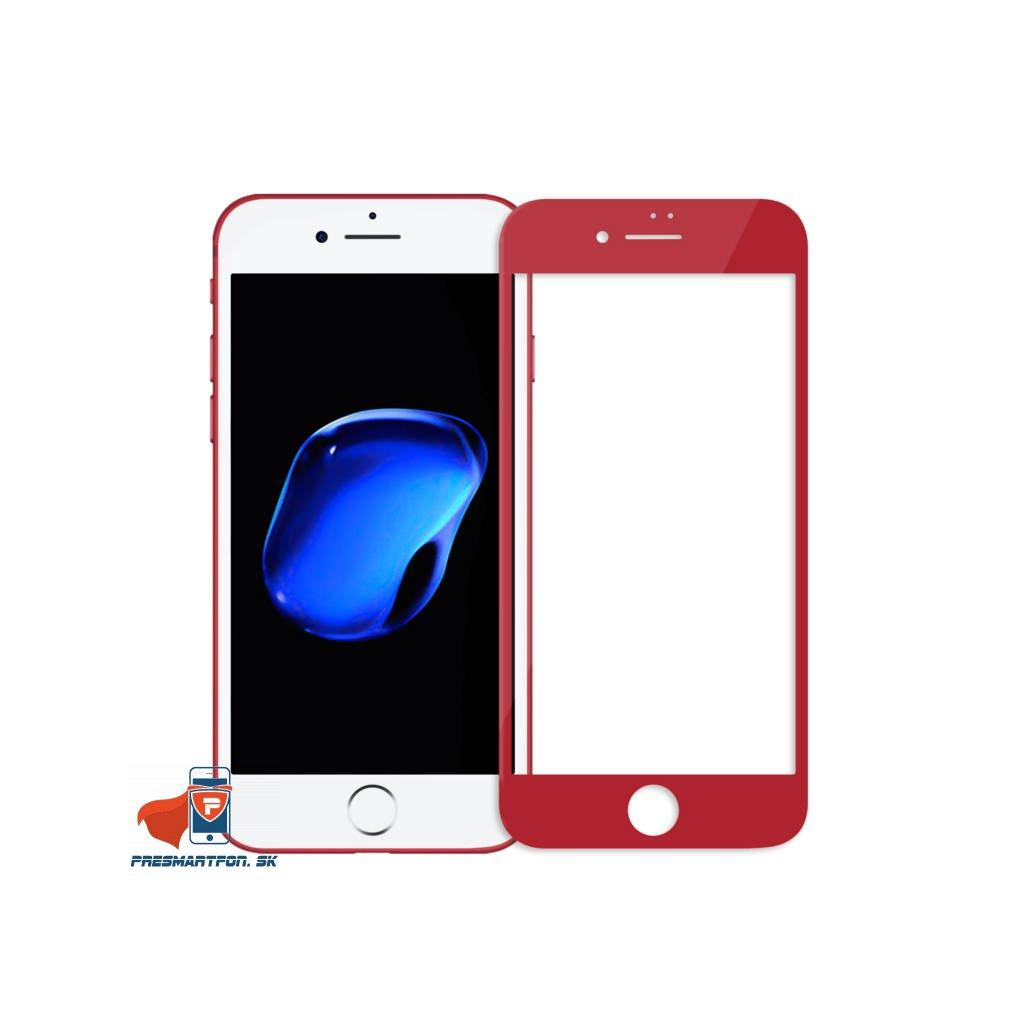 tvrdene 3D sklo CP iphone 7 cervene