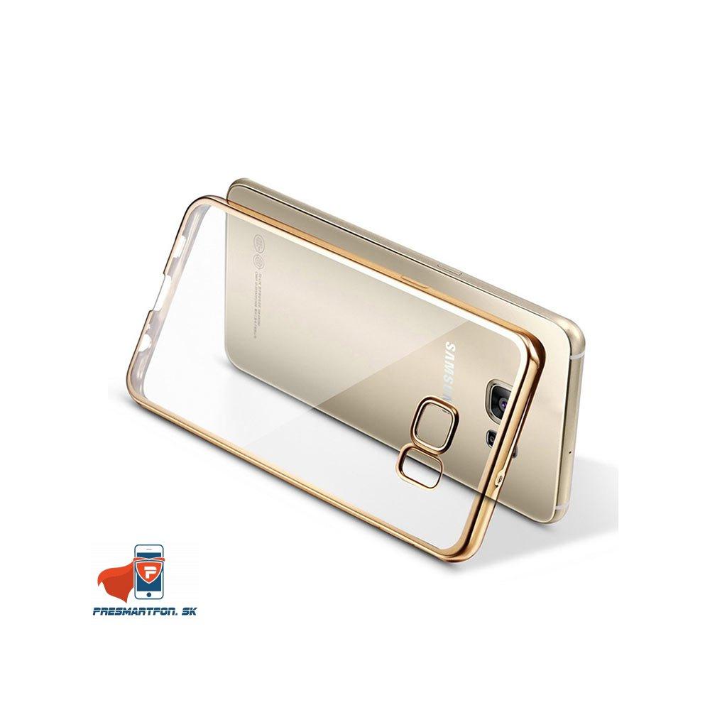Samsung galaxy S7 Edge silikonovy luxusny kryt priehladny zlaty 4