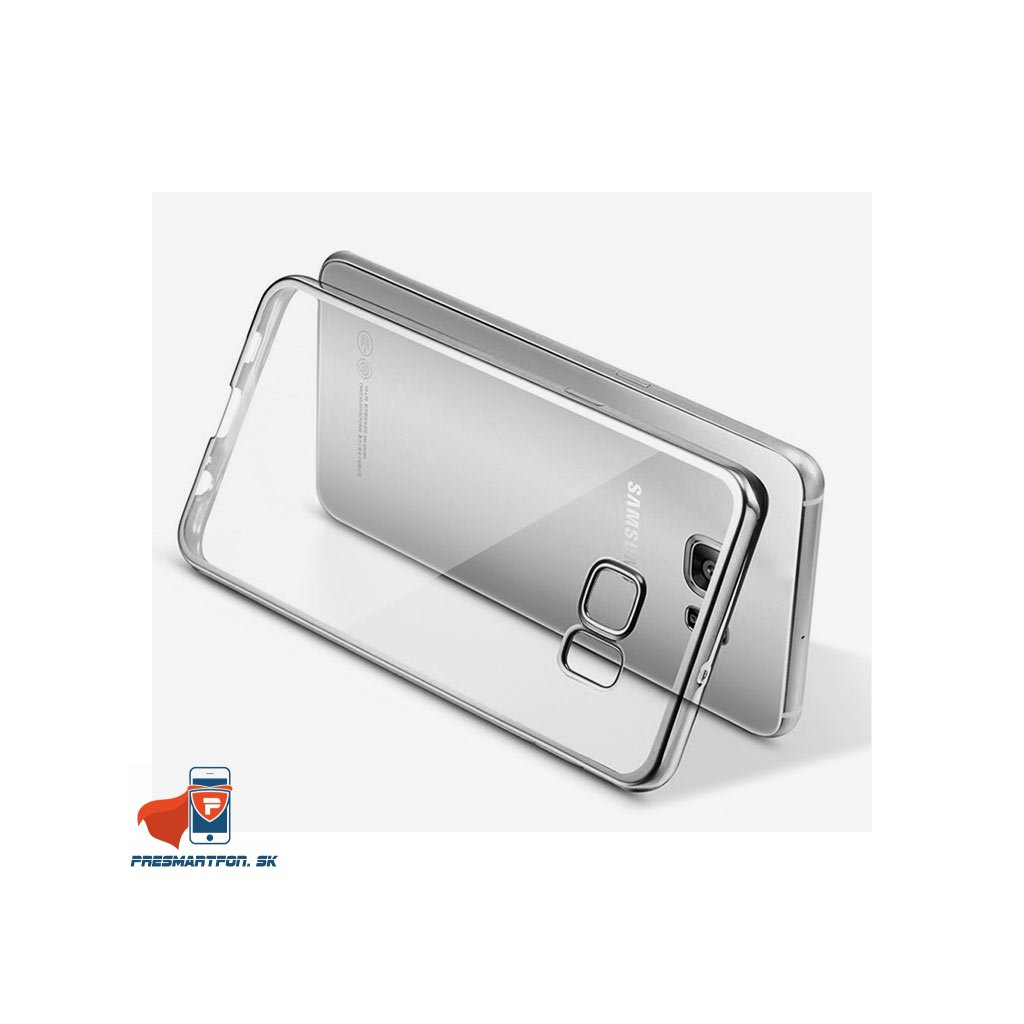 Samsung galaxy S7 Edge silikonovy luxusny kryt priehladny strieborny 4