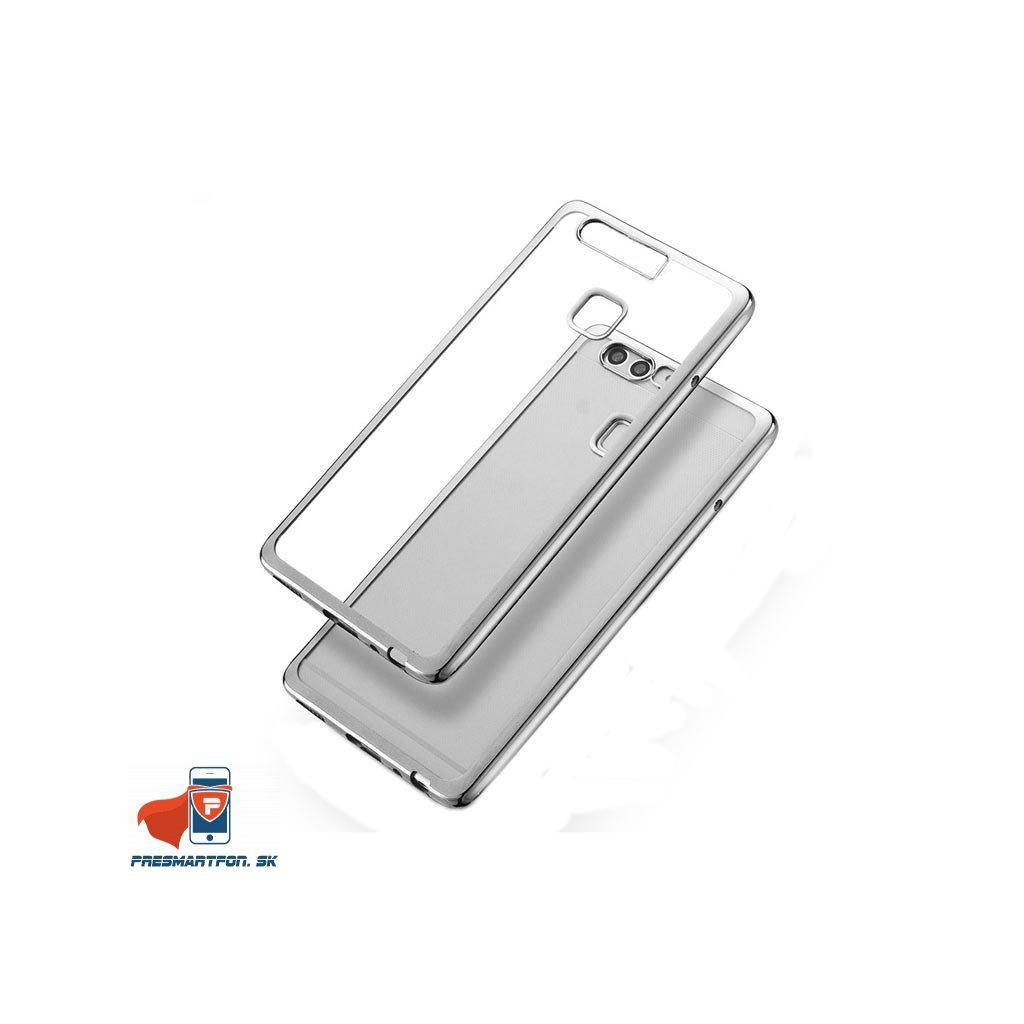 Huawei Ascend P9 silikonovy luxusny kryt priehladny strieborny 2