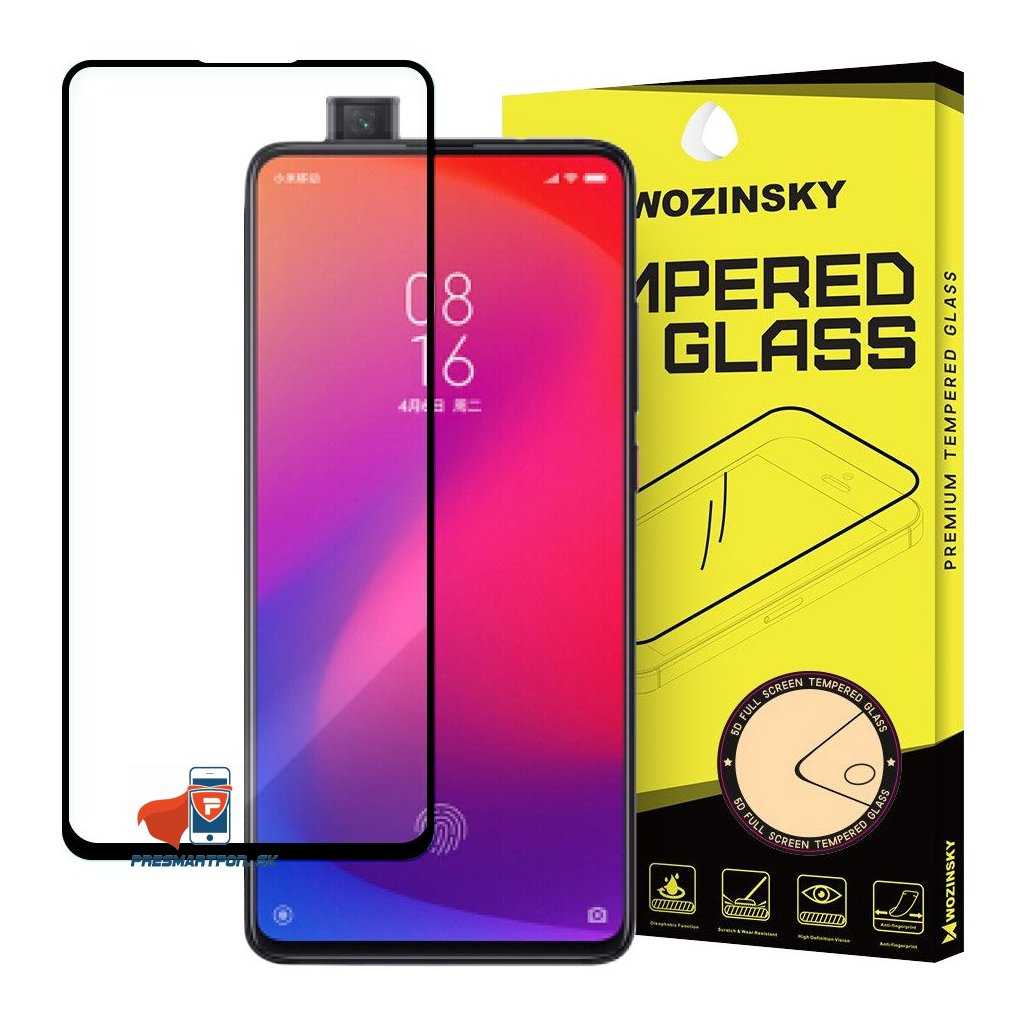 eng pl Wozinsky Tempered Glass Full Glue Super Tough Screen Protector Full Coveraged with Frame Case Friendly for Xiaomi Mi 9T Pro Mi 9T black 50885 1