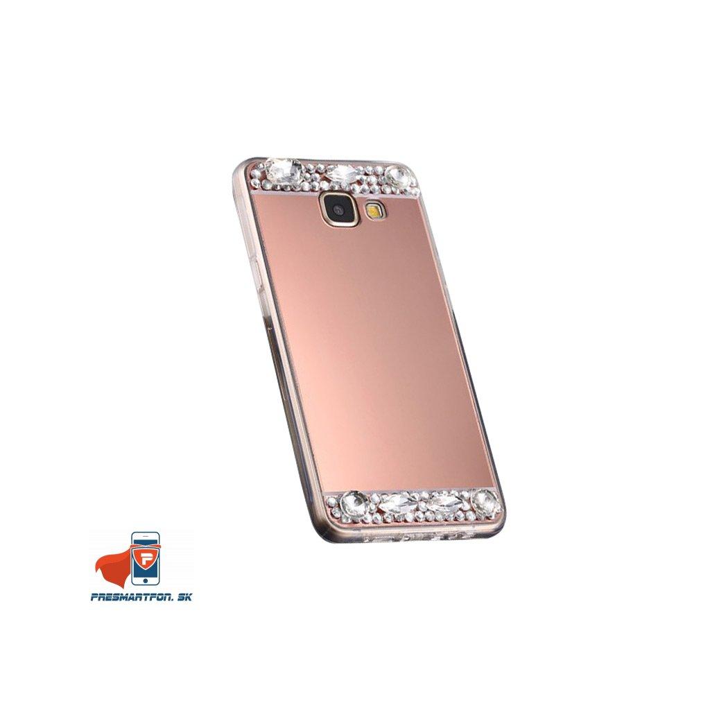 Samsung A5 2017 A520 silikonovy zrkadlovy kamienky medeny 1
