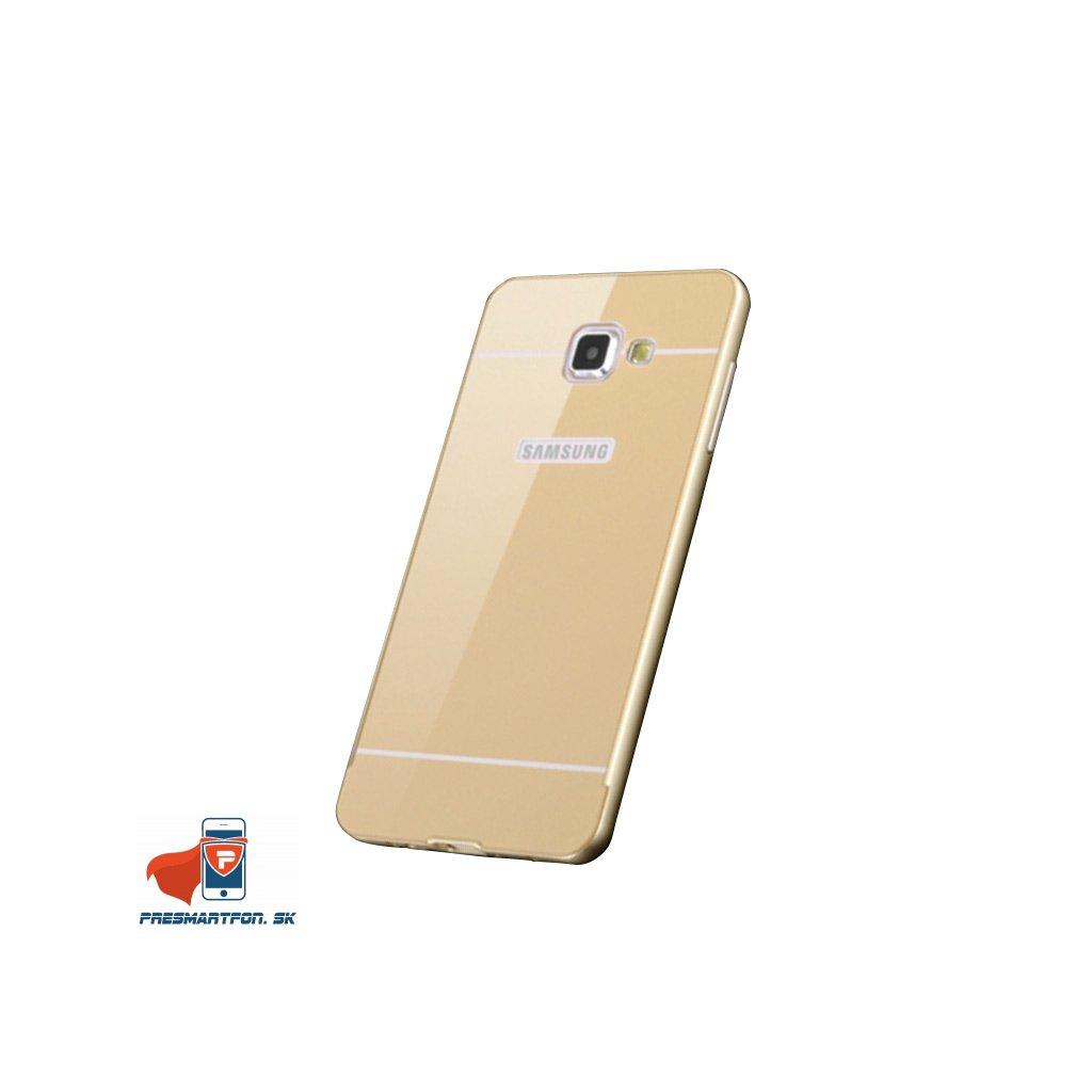 samsung A5 2016 510 hlinikovy bumper akryl kryt zlaty 1