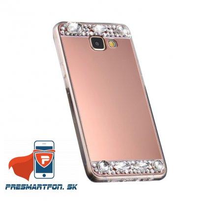 Samsung S7 silikonovy zrkadlovy kamienky medeny 1