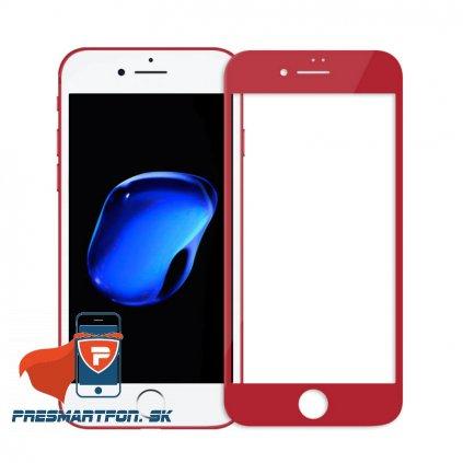 tvrdene 3D sklo AP iphone 7 cervene