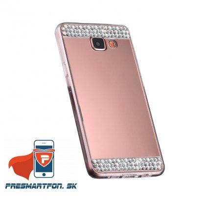 Samsung S7 edge silikonovy zrkadlovy kamienky medeny 1