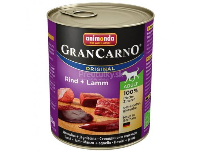 grancarno hovadzie jahna 800g