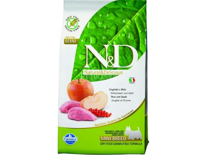 Farmina N&D dog GF adult mini boar & apple 2,5 kg