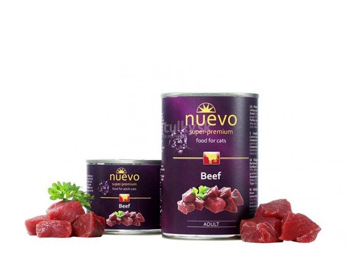 NUEVO cat Adult Beef 200 g konzerva