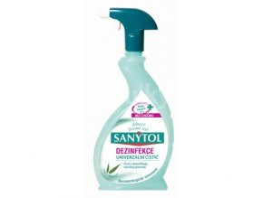 Sanytol dezinfekcia univerzálny antibakteriálny čistič s vôňou eukalyptu 500ml s rozprašovačom UH