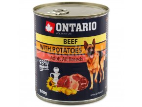 Konzerva ONTARIO Dog Beef, Potatos and Sunflower Oil (800g)