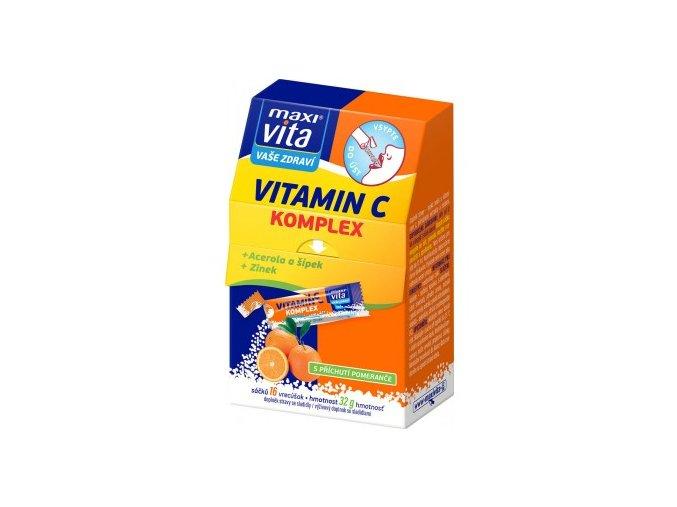 MaxiVita Vitamin C komplex + acerola + šípek + zinek