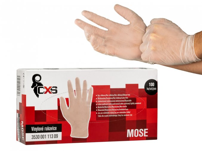 Jednorazove vinilove rukavice MOSE