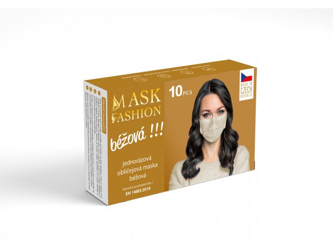 Fashion Mask Tex Tech Béžová (1)