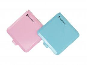 krabičky na roušky 2ks růžová a modrá zavřené
