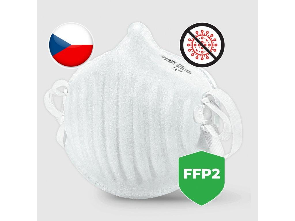 Levně Nano respirátor BreaSAFE ANTI-COVID-19 FFP2 Pardam 3ks