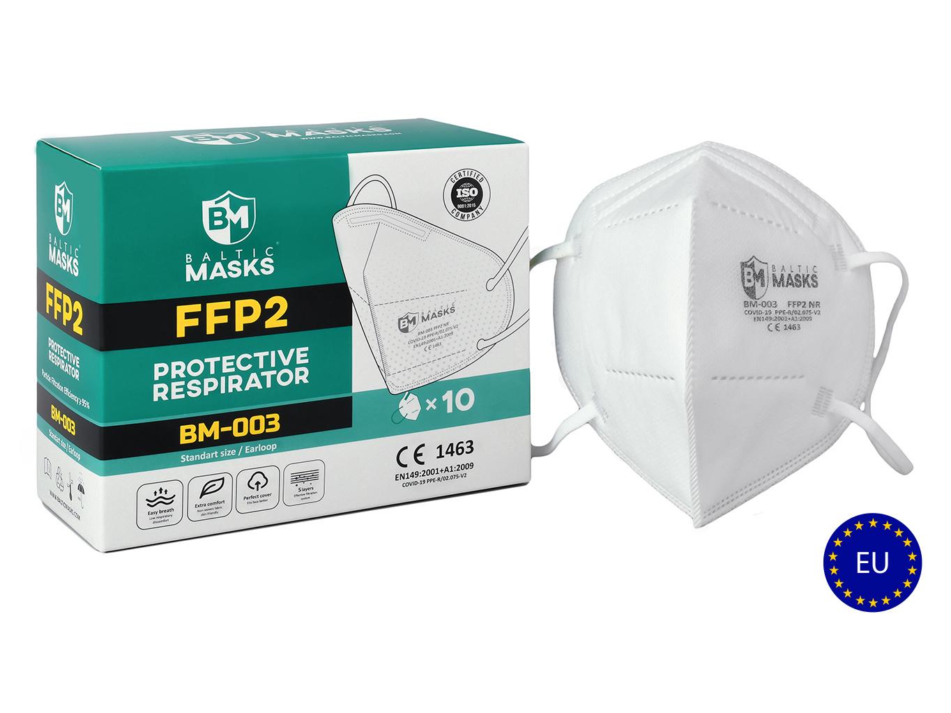 Levně Baltic masks 5 vrstvý respirátor FFP2 - 5000ks