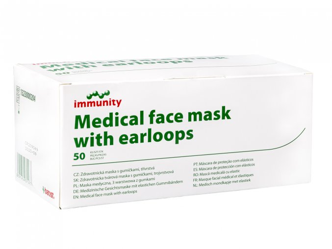 Medical face mask with earloops krabička 1364x1024