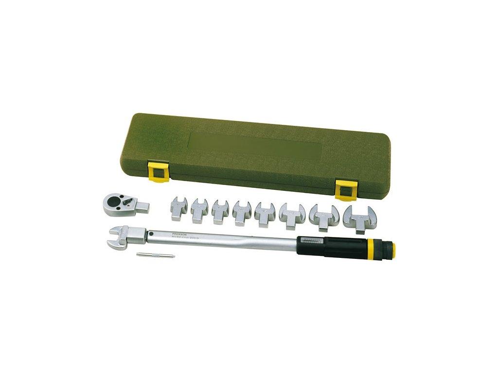 Stranový momentový kľúč 40-210 Nm Proxxon v sade