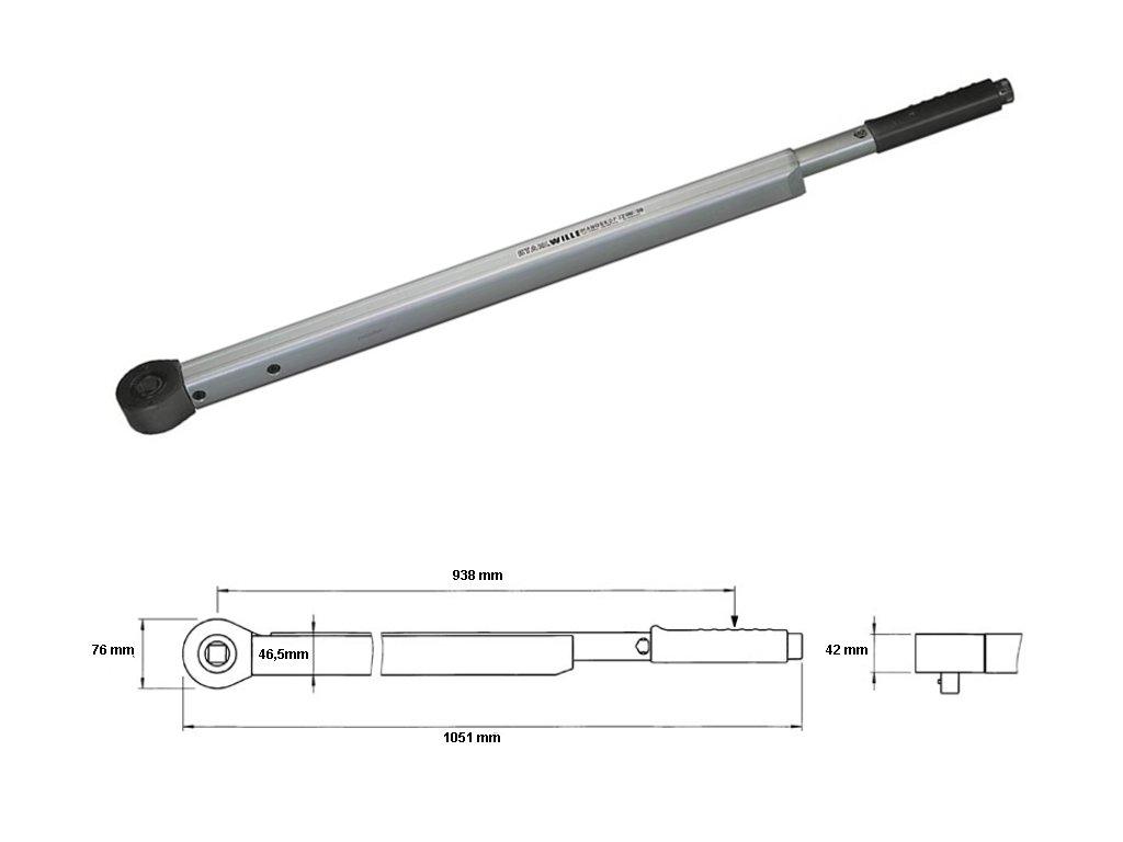 Momentový kľúč 160-800Nm 3/4 '' Stahlwille 721Nf