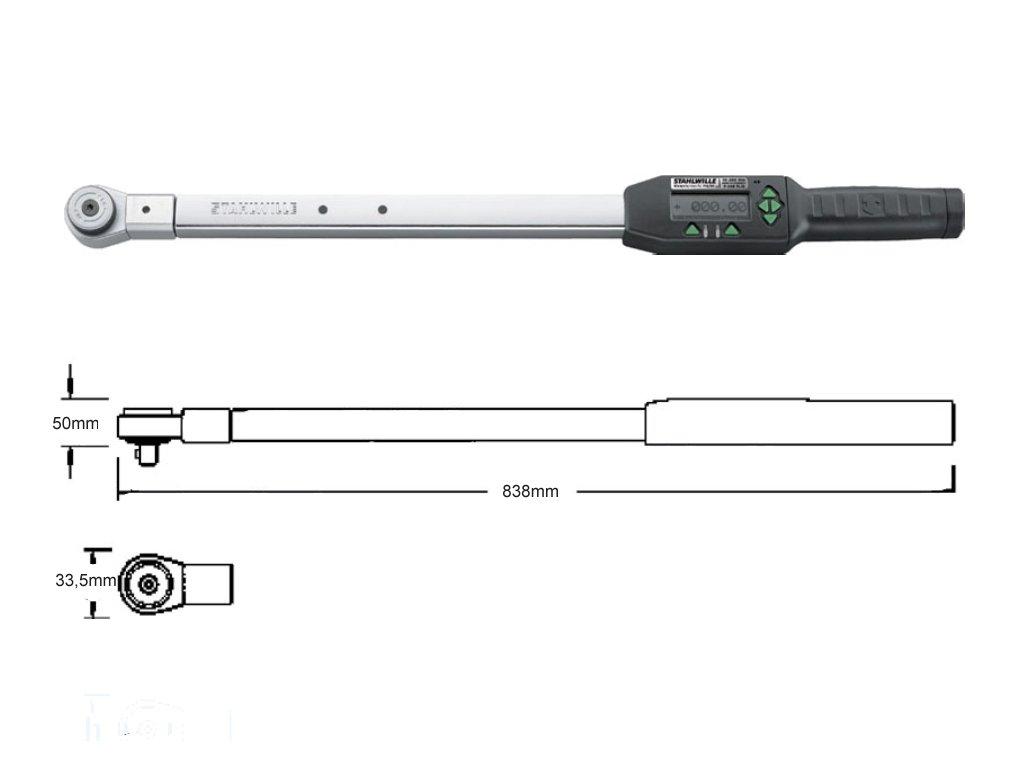 Momentový kľúč 20-400Nm 3/4 '' Stahlwille Sensortork 713R