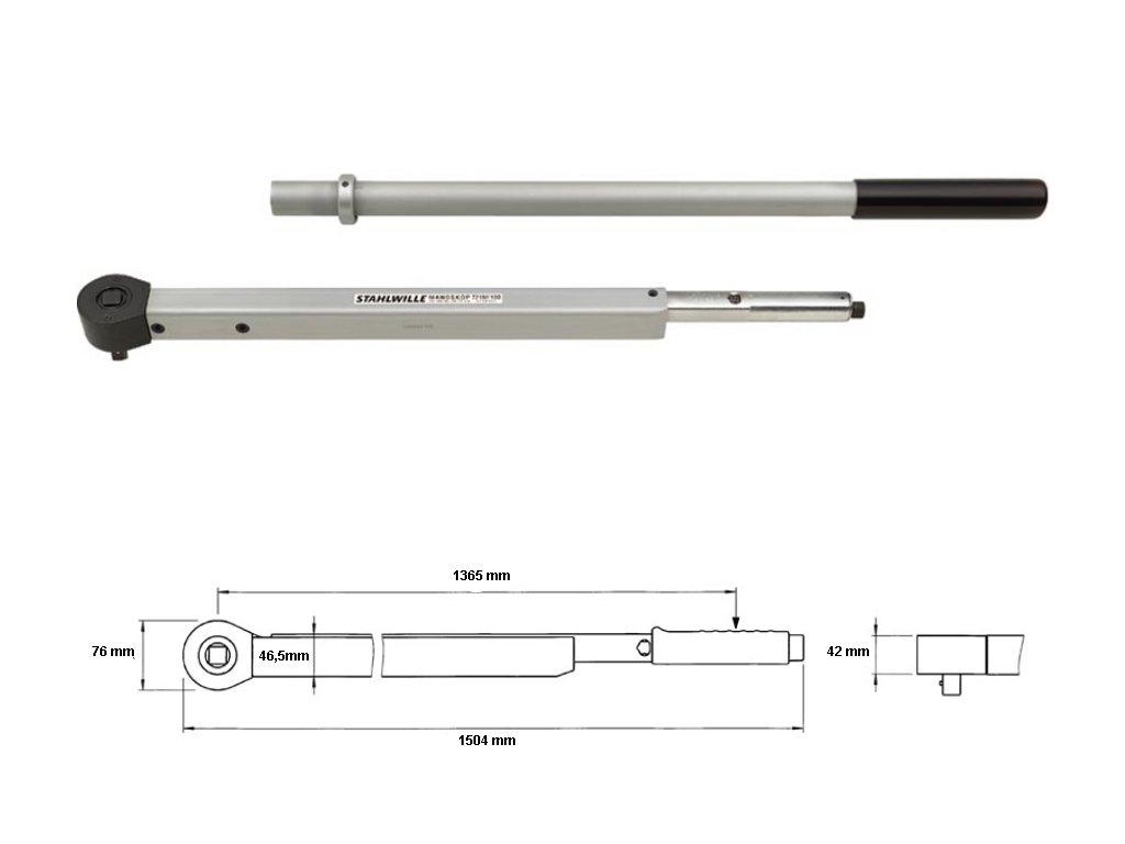 Momentový kľúč 200-1000Nm 3/4 '' Stahlwille Manoskop 721 Nf