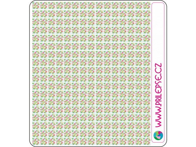 77 květiny puntíky 6 mm