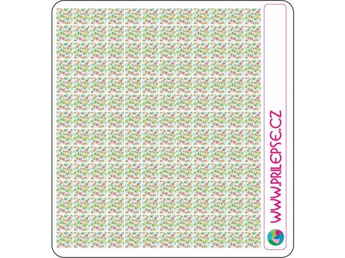 78 květiny puntíky 8 mm
