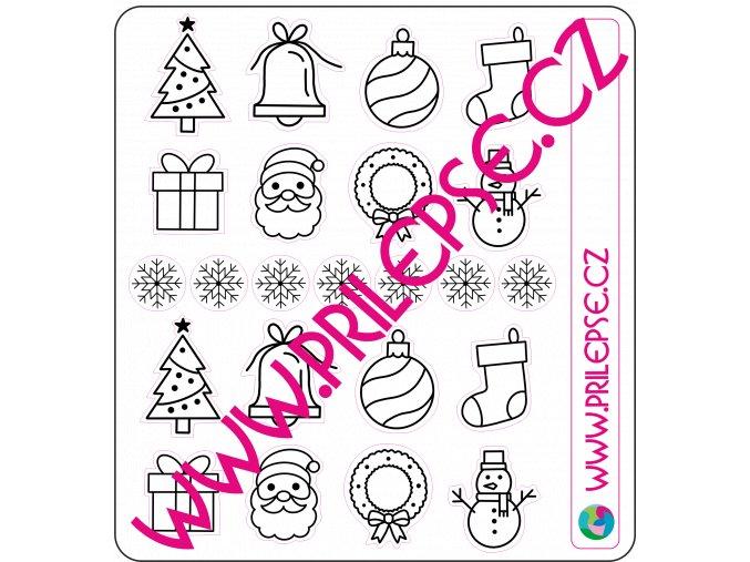207 Vánoční omalovánky